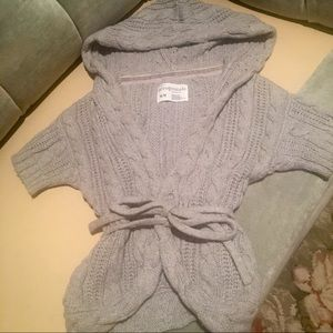 Aeropostale Girl Gray Cable Knit Cardigan Sweater